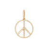 Rosa de la Cruz Peace Diamond Pendant - Rose Gold 15mm - Charms & Pendants - Broken English Jewelry
