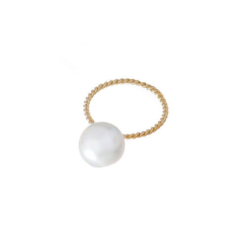 Pearl Filigree Ring - Penelope - Ring | Broken English Jewelry