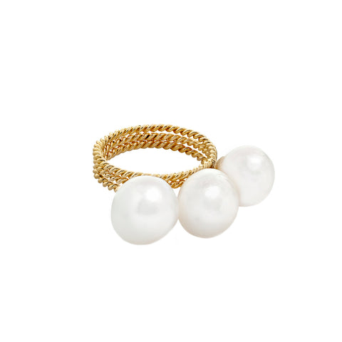 Set of 3 Pearl Filigree Rings - Penelope - Ring | Broken English Jewelry