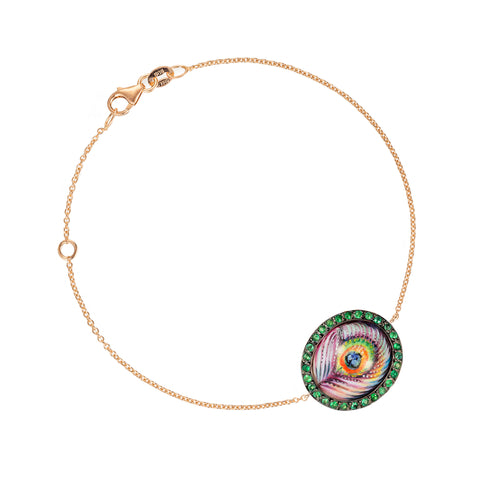 Enamel Peacock Bracelet - Penelope - Bracelet | Broken English Jewelry