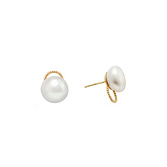 Pearl Studs - Penelope - Earrings | Broken English Jewelry