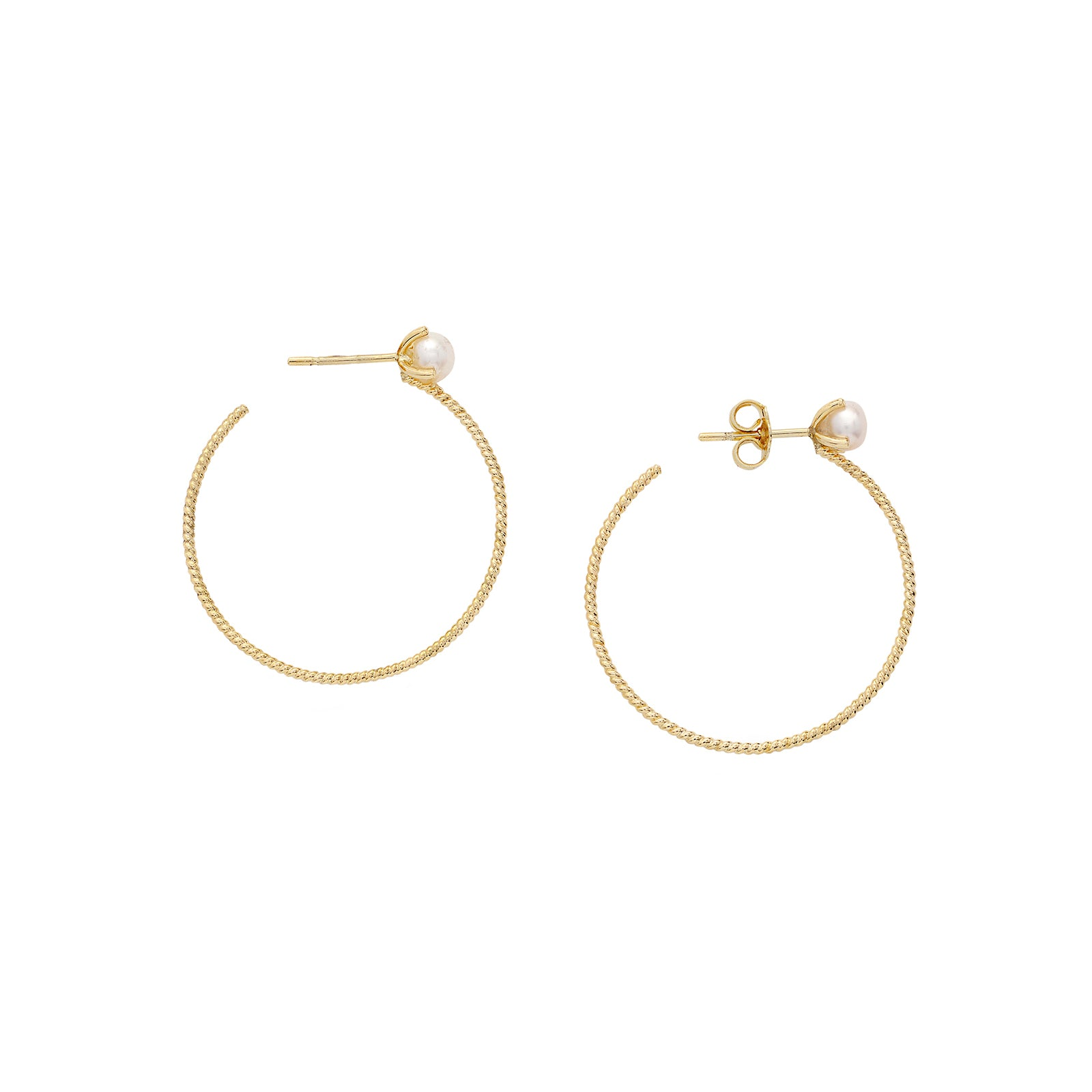 Small Pearl Filigree Hoops - Penelope - Earrings | Broken English Jewelry