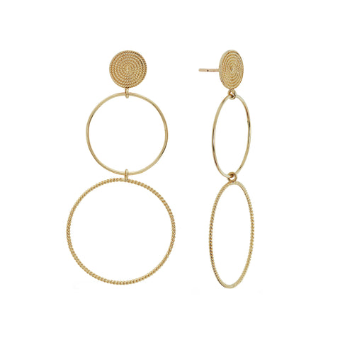 Double Drop Earrings - Penelope - Earrings | Broken English Jewelry