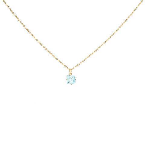 Aquamarine KLAR Pendant Necklace - MISUI - Necklaces | Broken English Jewelry