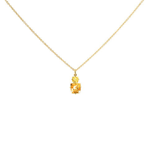 Golden Beryl and Citrine KLAR Pendant Necklace - MISUI - Necklaces | Broken English Jewelry