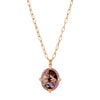Colette Medallion Necklace - Diamond & Pink Sapphire - Necklaces - Broken English Jewelry