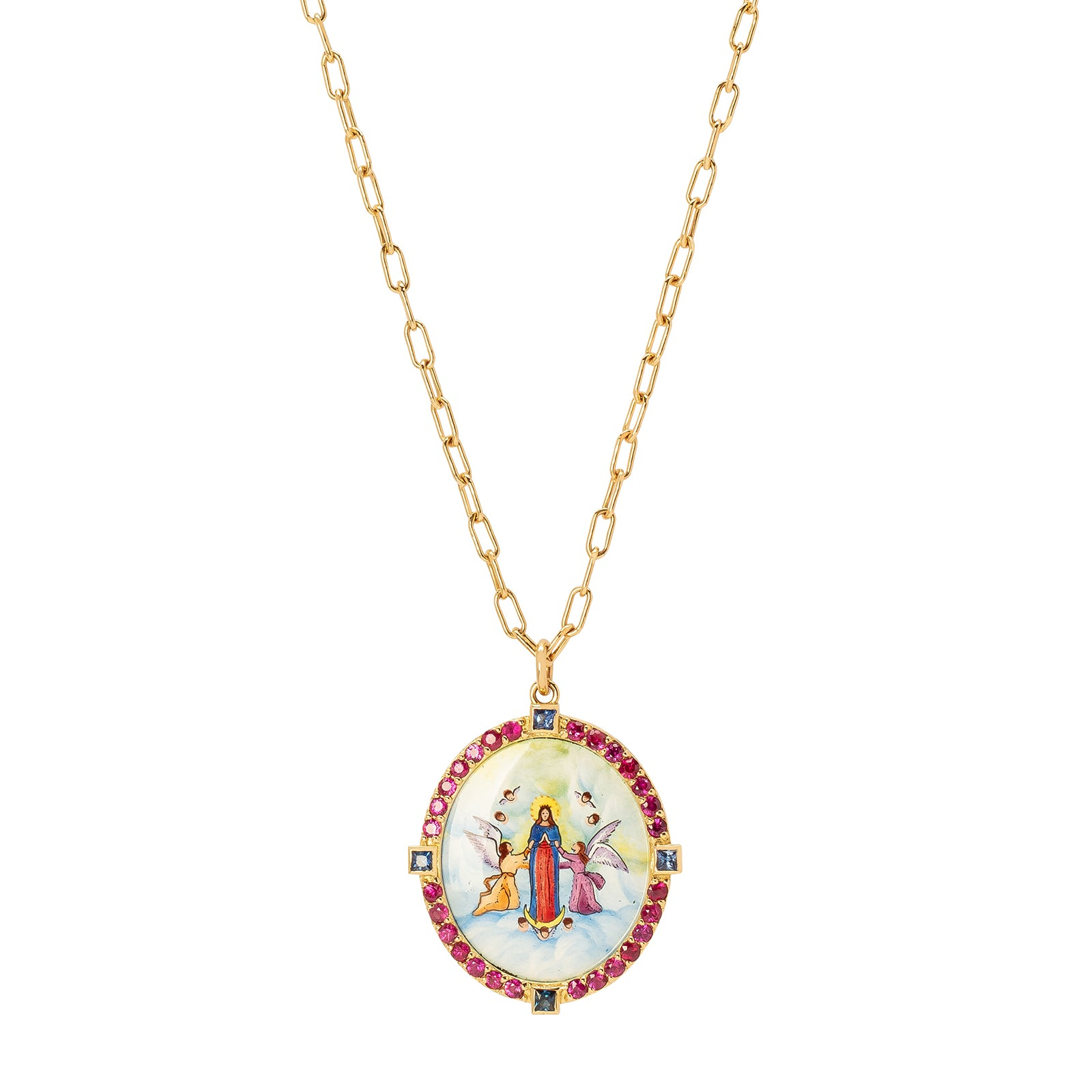 Colette Assumption of the Blessed Virgin Mary Pendant Necklace - Necklaces - Broken English Jewelry