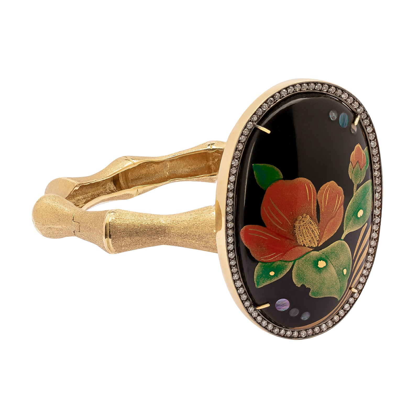 Silvia Furmanovich Hand Painted Flower Bracelet - Bracelets - Broken English Jewelry