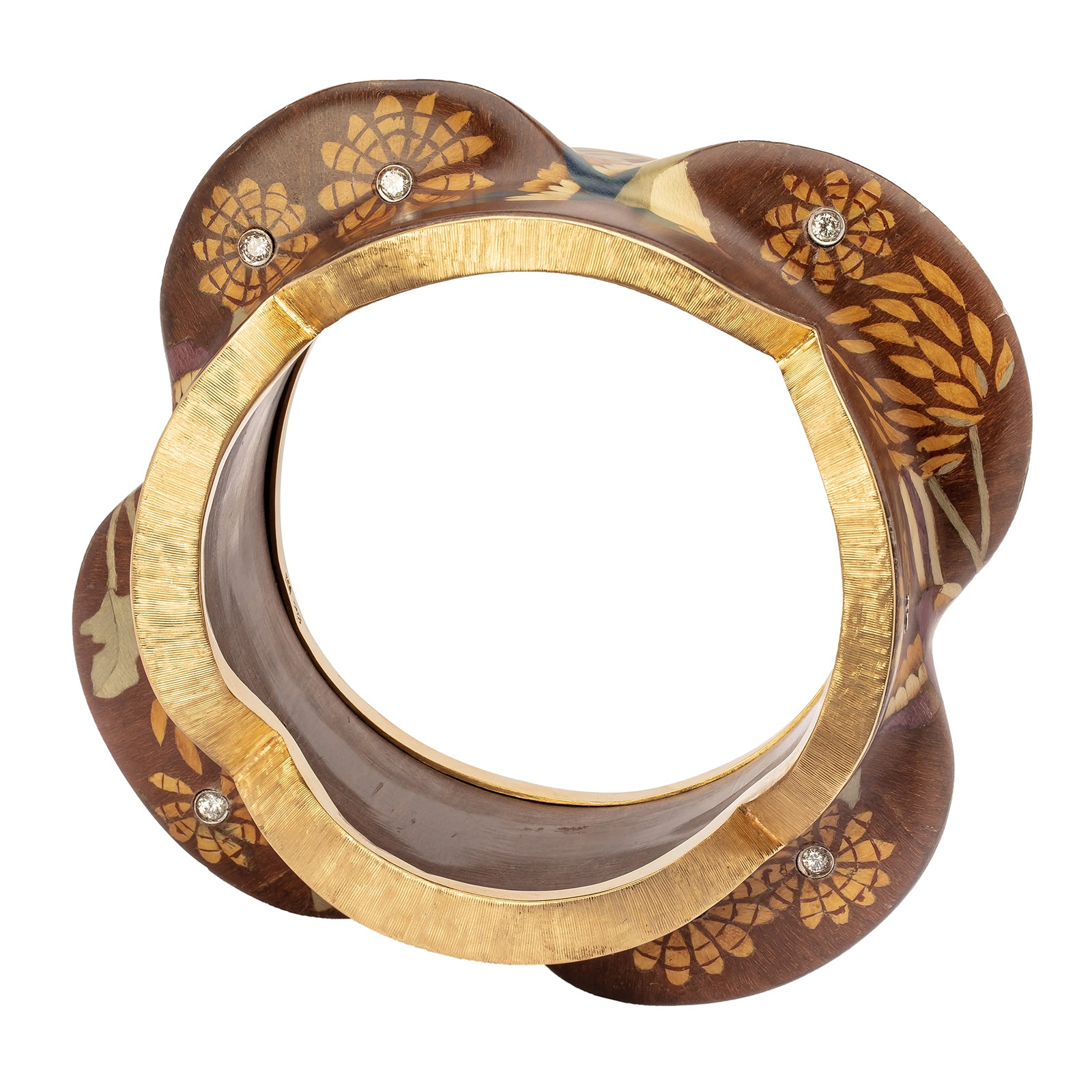 Silvia Furmanovich Marquetry Birds & Floral Bracelet - Bracelets - Broken English Jewelry