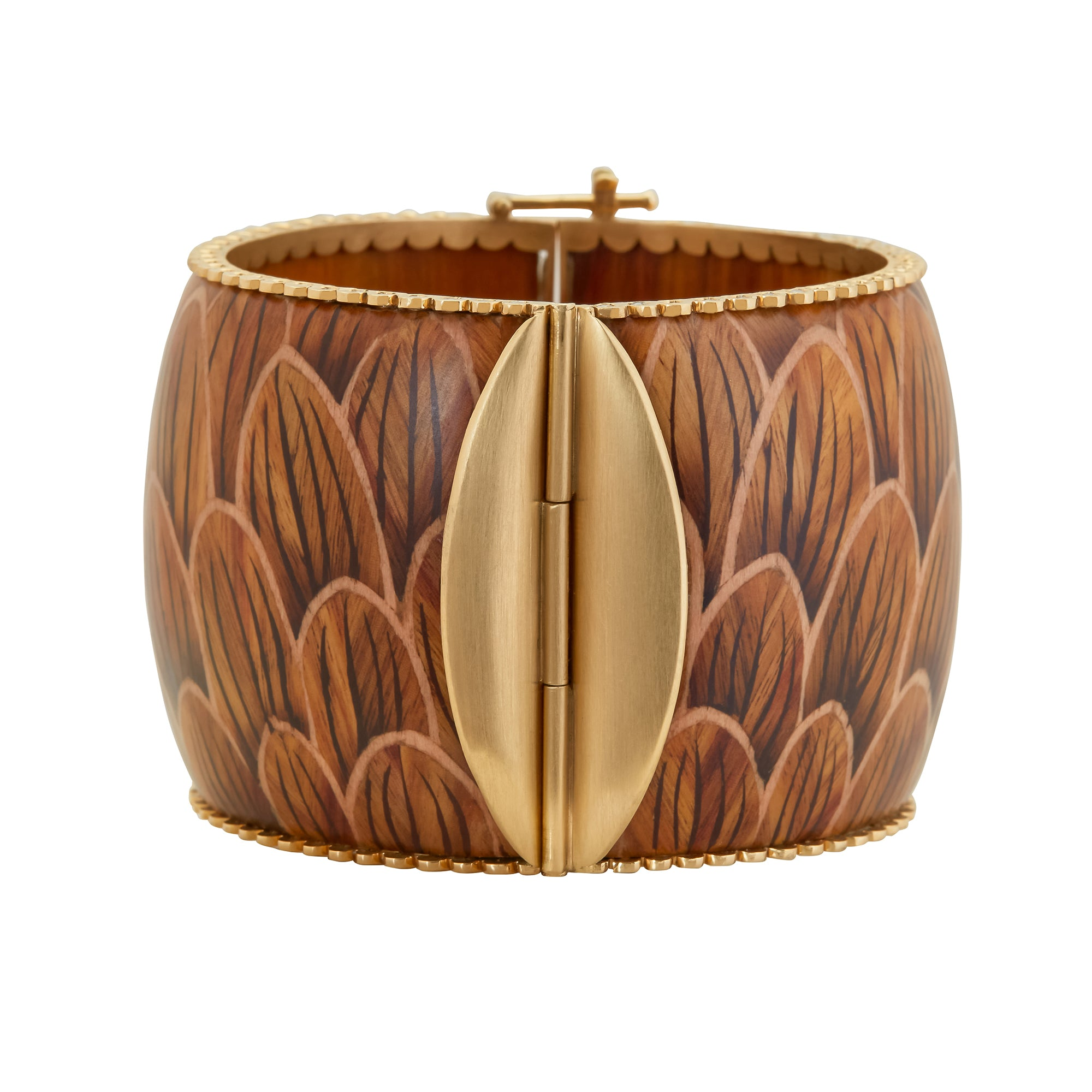 Silvia Furmanovich Marquetry Brown Scales Bracelet - Bracelets - Broken English Jewelry