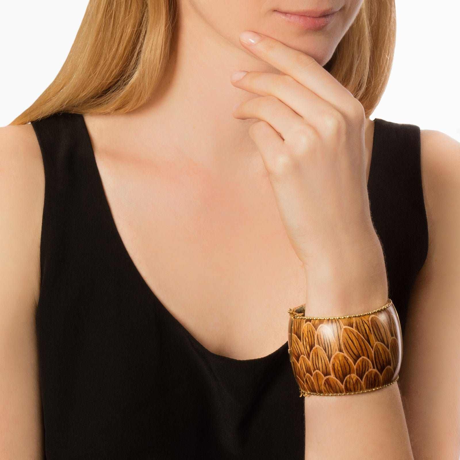 Silvia Furmanovich Marquetry Waterlily Cuff - Bracelets - Broken English Jewelry