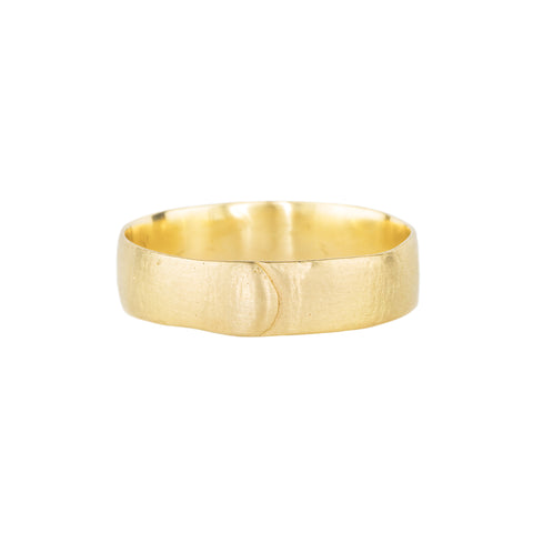 Plain Med Pinched Band by Polly Wales for Broken English Jewelry