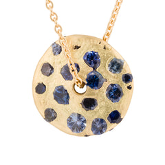 Spinning Disc Pendant by Polly Wales for Broken English Jewelry