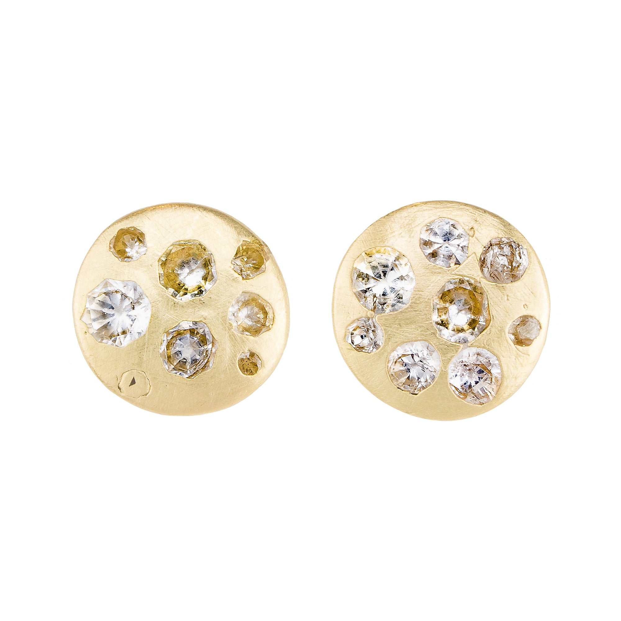 Celeste Disc Studs by Polly Wales for Broken English Jewelry