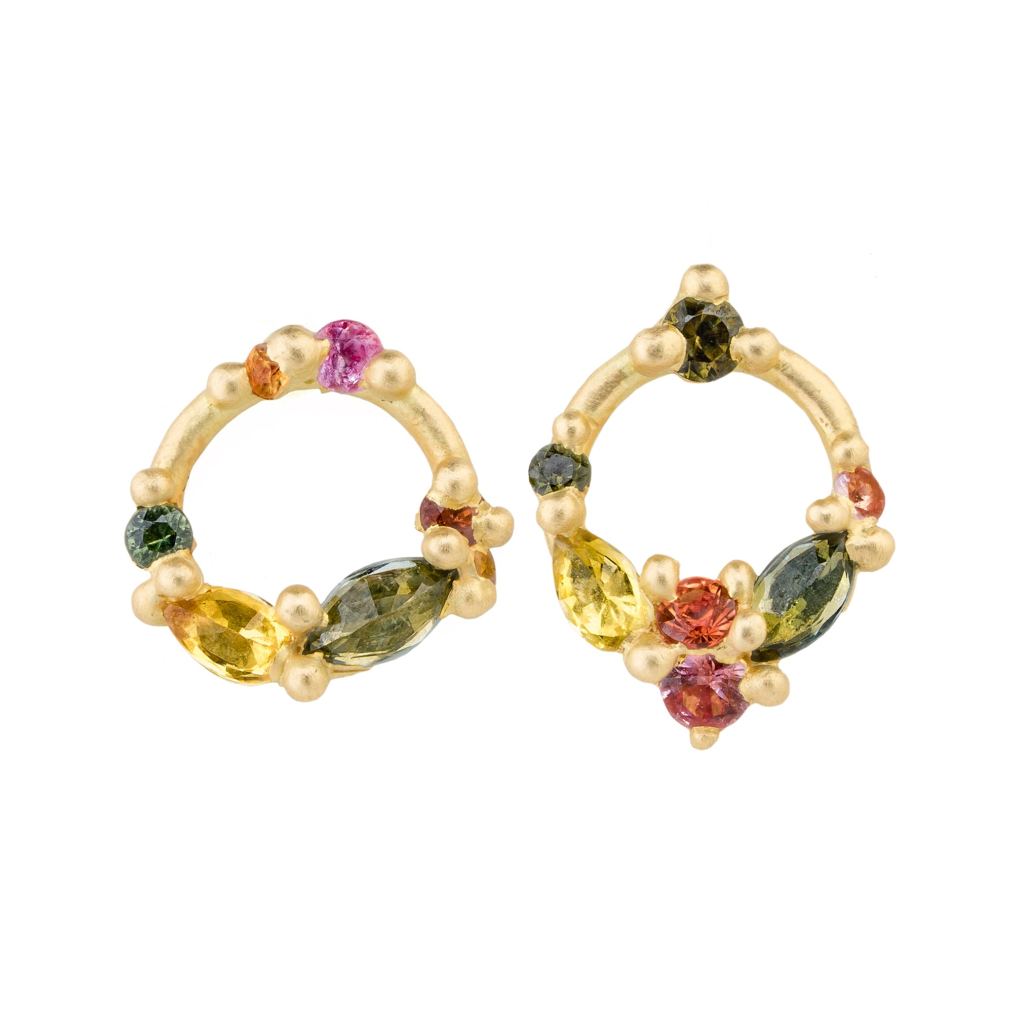 Des Gouttes de Rosee Studs by Polly Wales for Broken English Jewelry