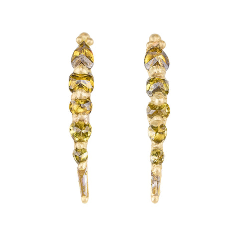 Diamond Ear Climbers by Polly Wales for Broken English Jewelry