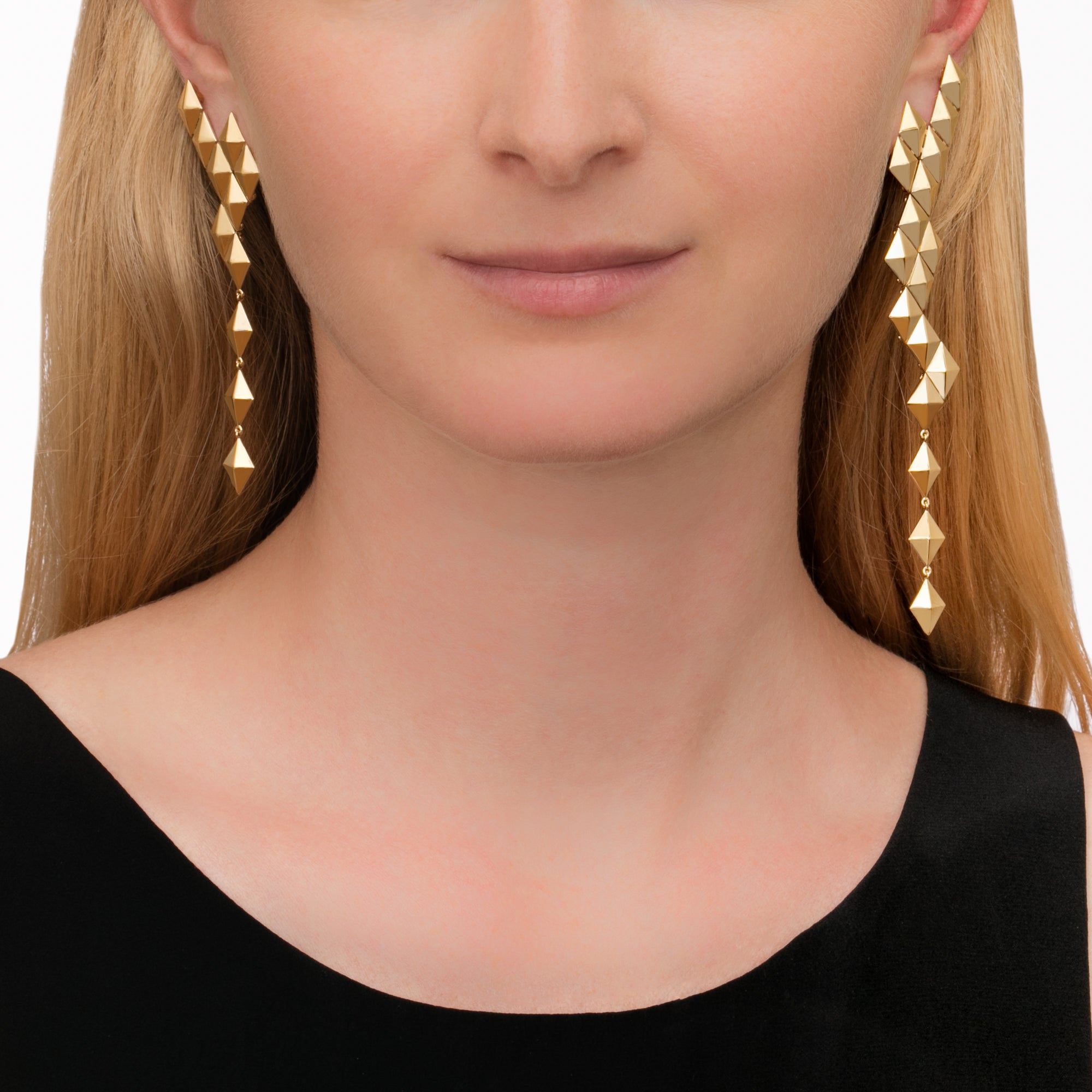 Python Asymmetrical Drop Earrings - Cadar - Earrings | Broken English Jewelry