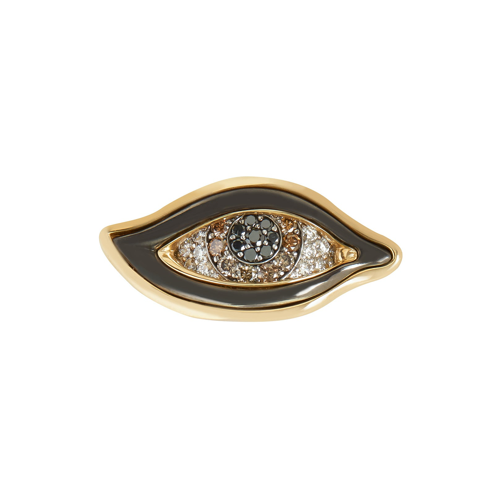 VRAM Eye of Chrona Ring - Light Brown Diamonds - Rings - Broken English Jewelry