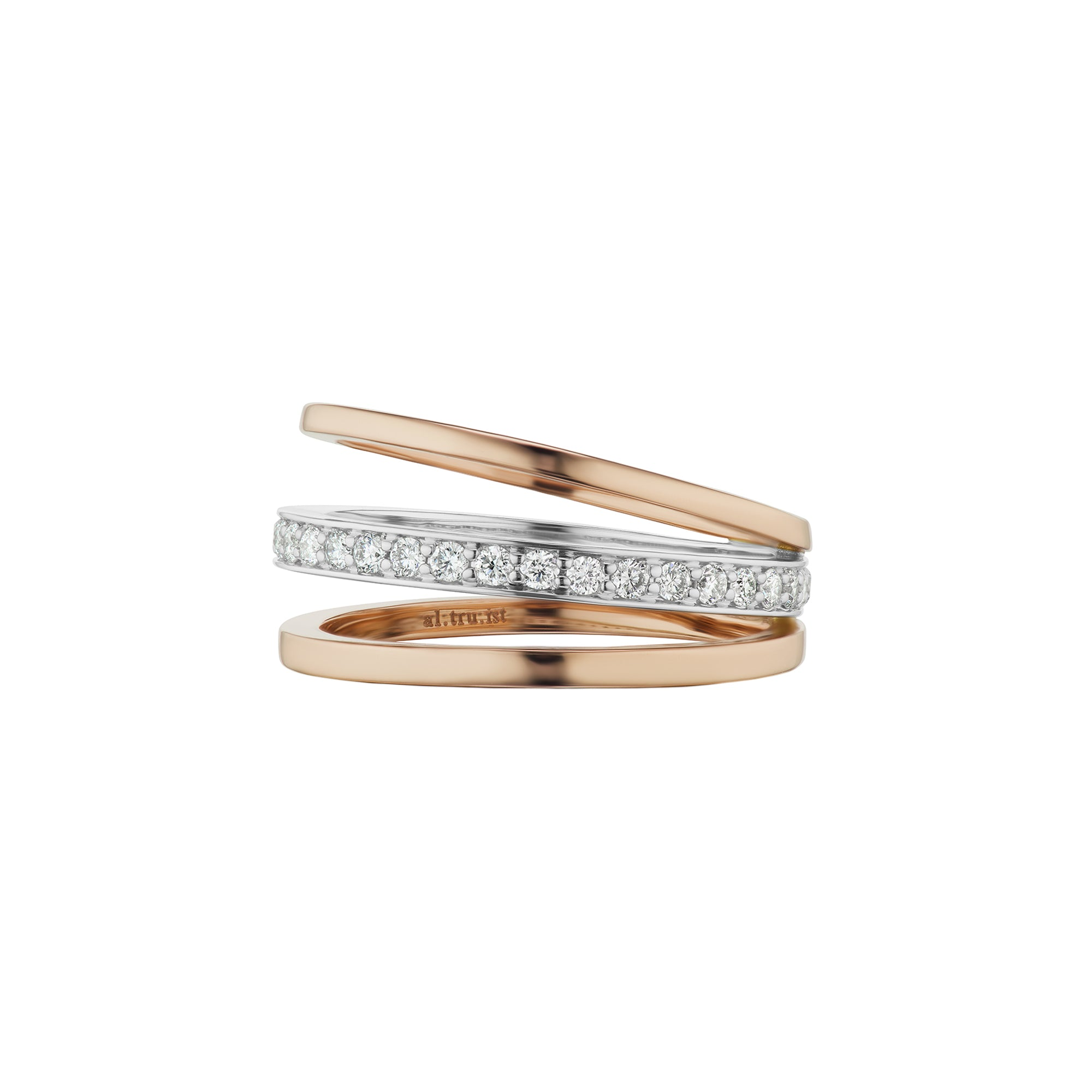 Altruist Espionne Ring III - Rose & White Gold - Rings - Broken English Jewelry