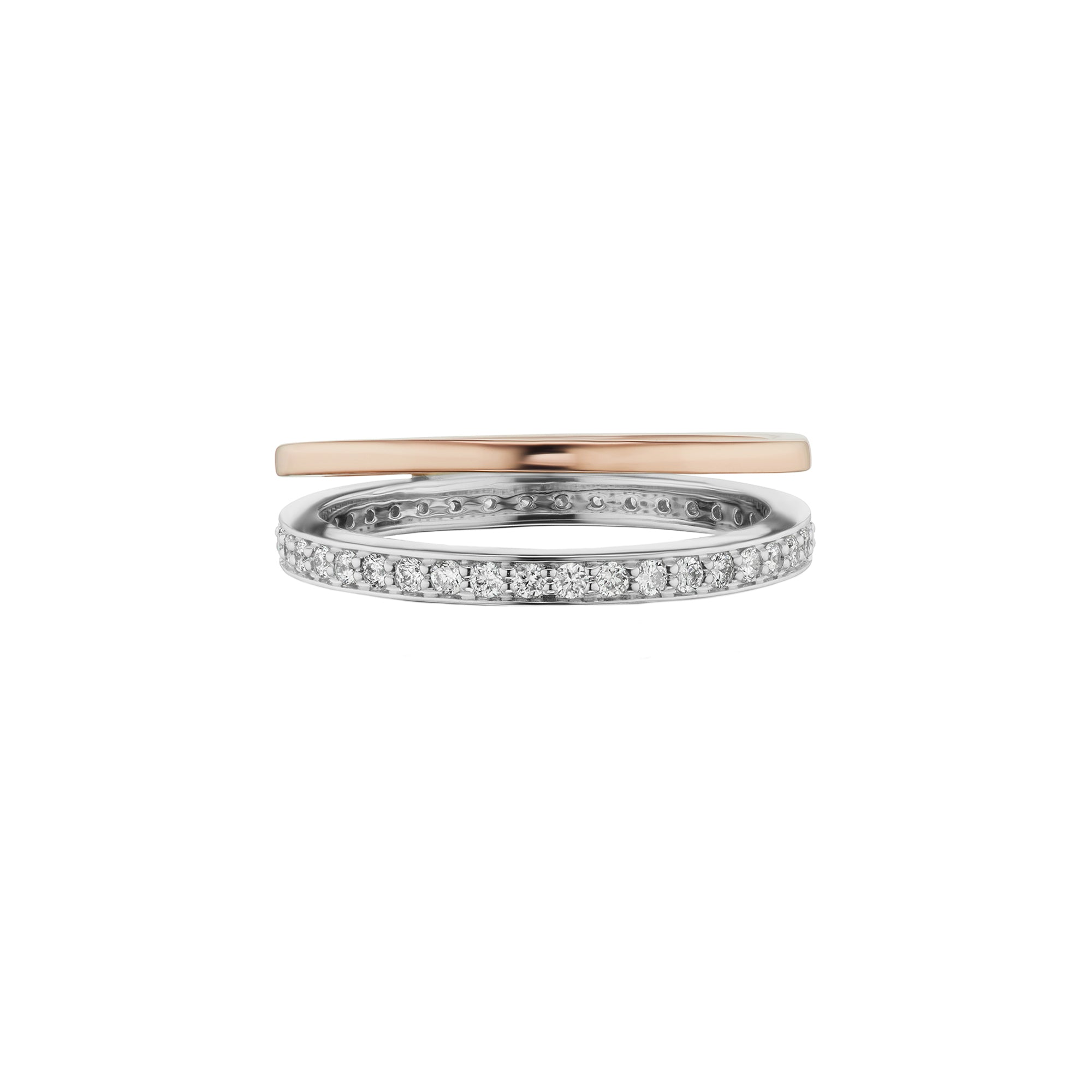 Altruist Espionne Ring I - Rose & White Gold - Rings - Broken English Jewelry
