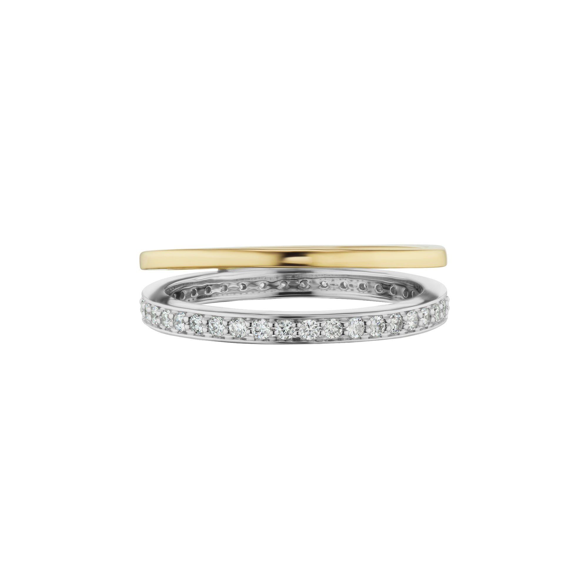 Altruist Espionne Ring I - Yellow & White Gold - Rings - Broken English Jewelry