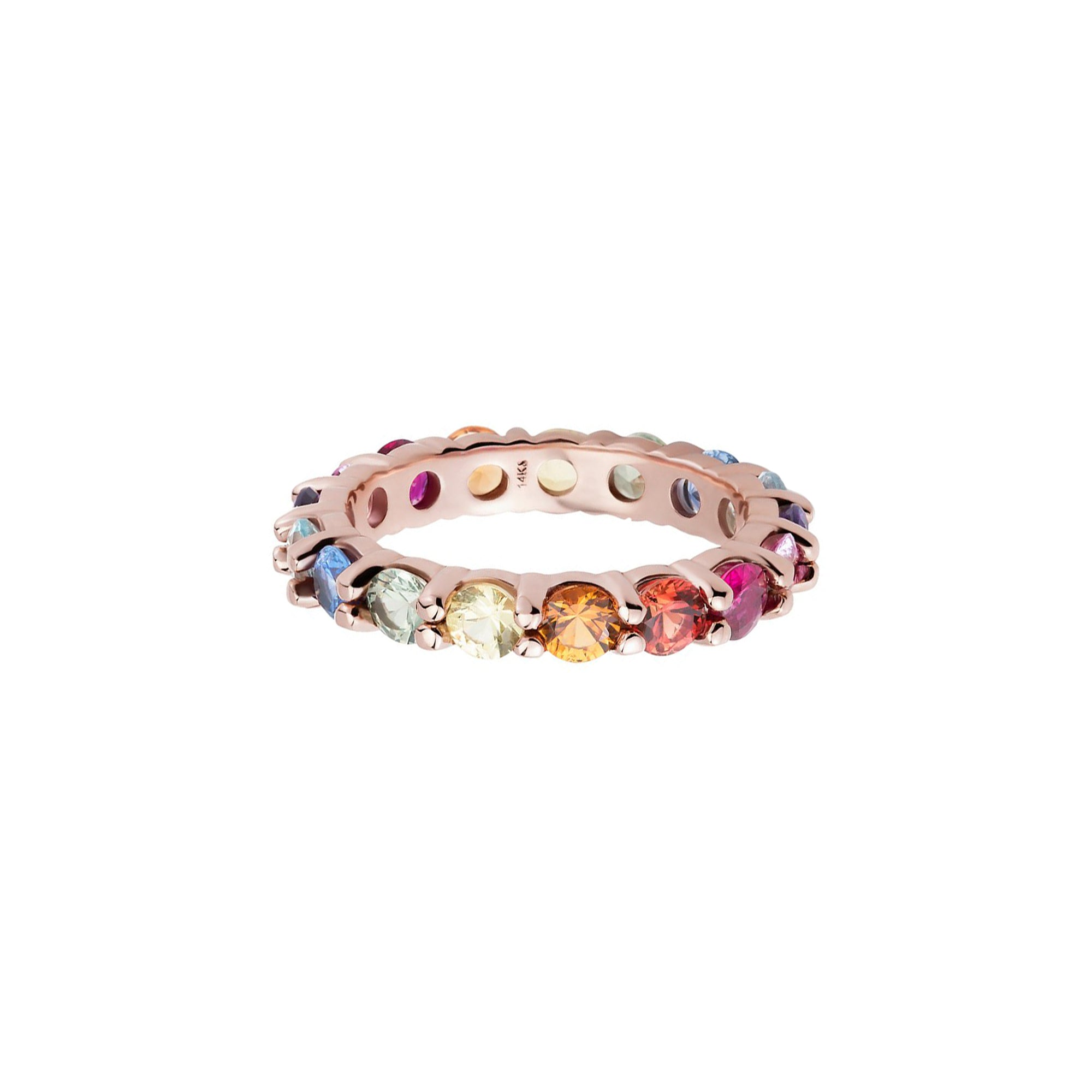 Carbon & Hyde Rainbow Eternity Band - Rose Gold - Rings - Broken English Jewelry