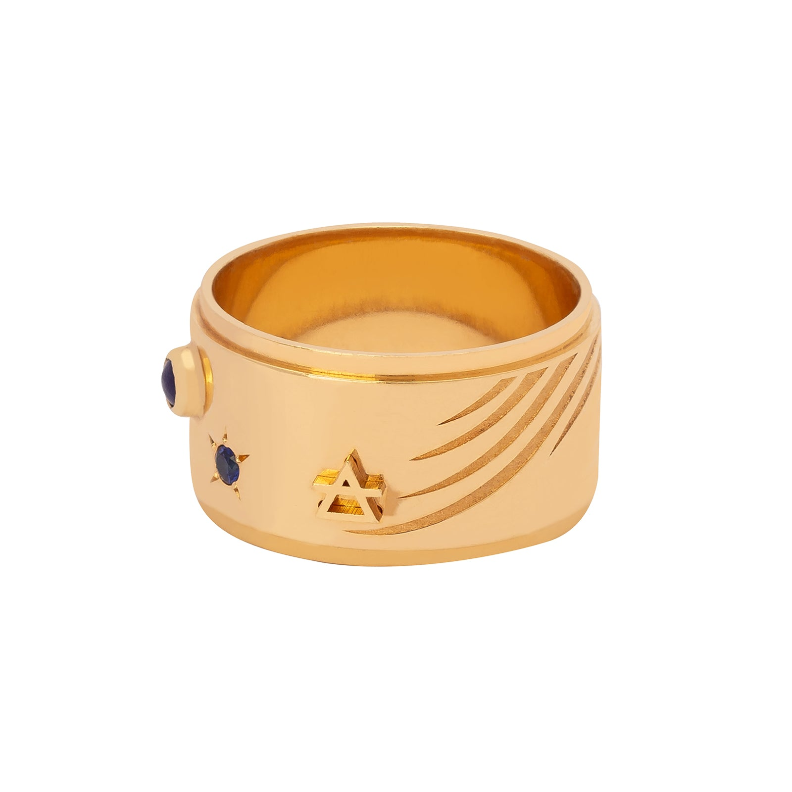 Foundrae Wide Band Air Ring - Rings - Broken English Jewelry
