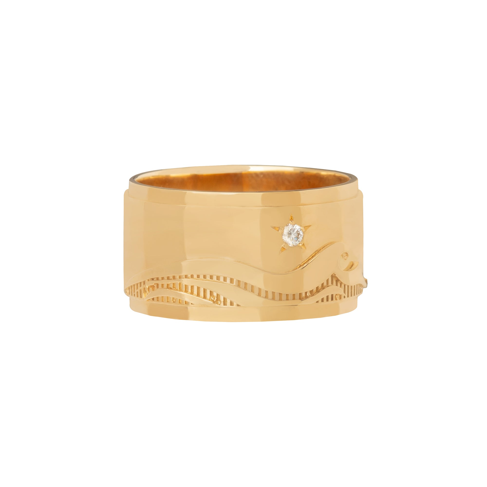 Wide Band Water Ring - Foundrae - Rings | Broken English Jewelry