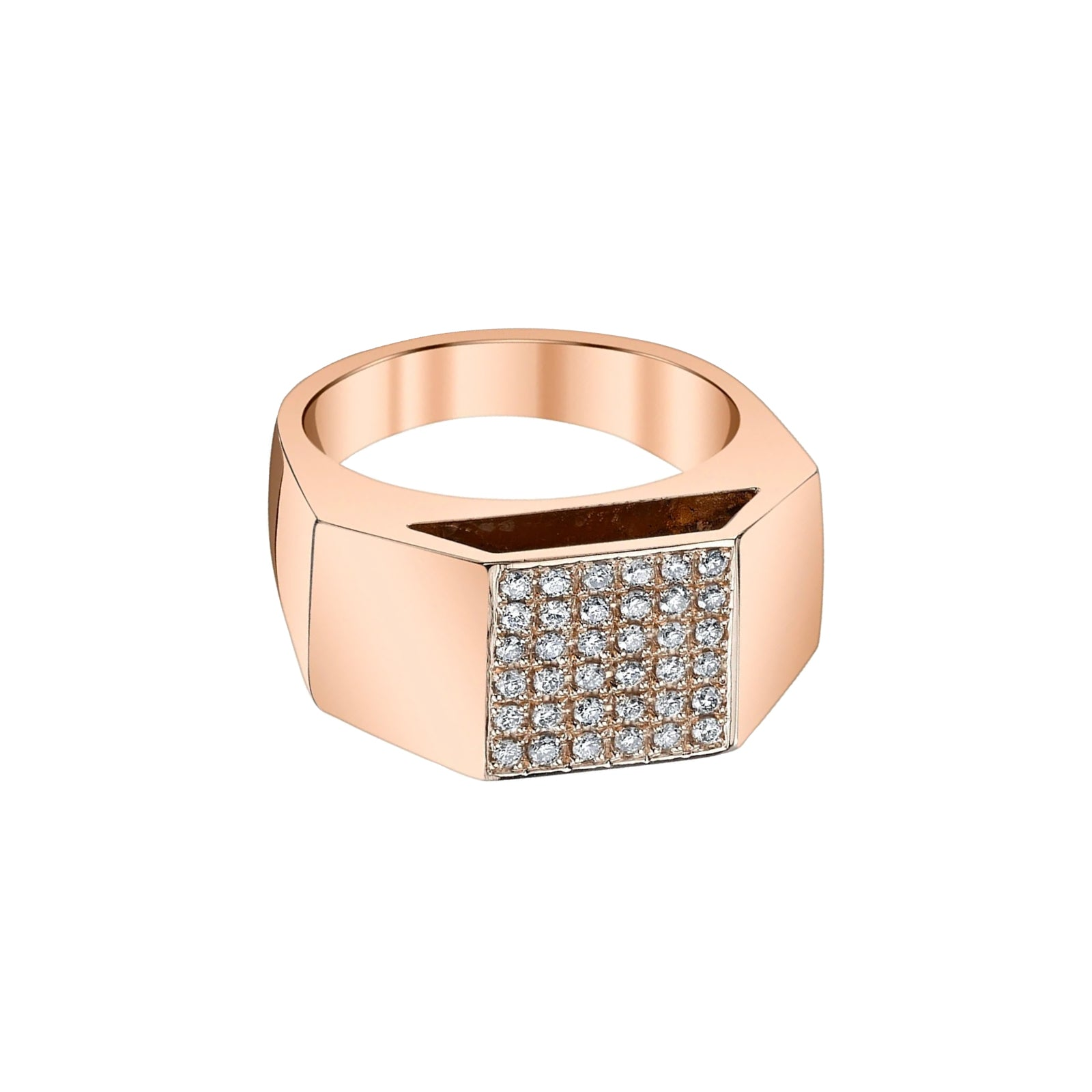 Gabriela Artigas & Company Cut Out Diamond Pedestal Ring - Rose Gold - Rings - Broken English Jewelry