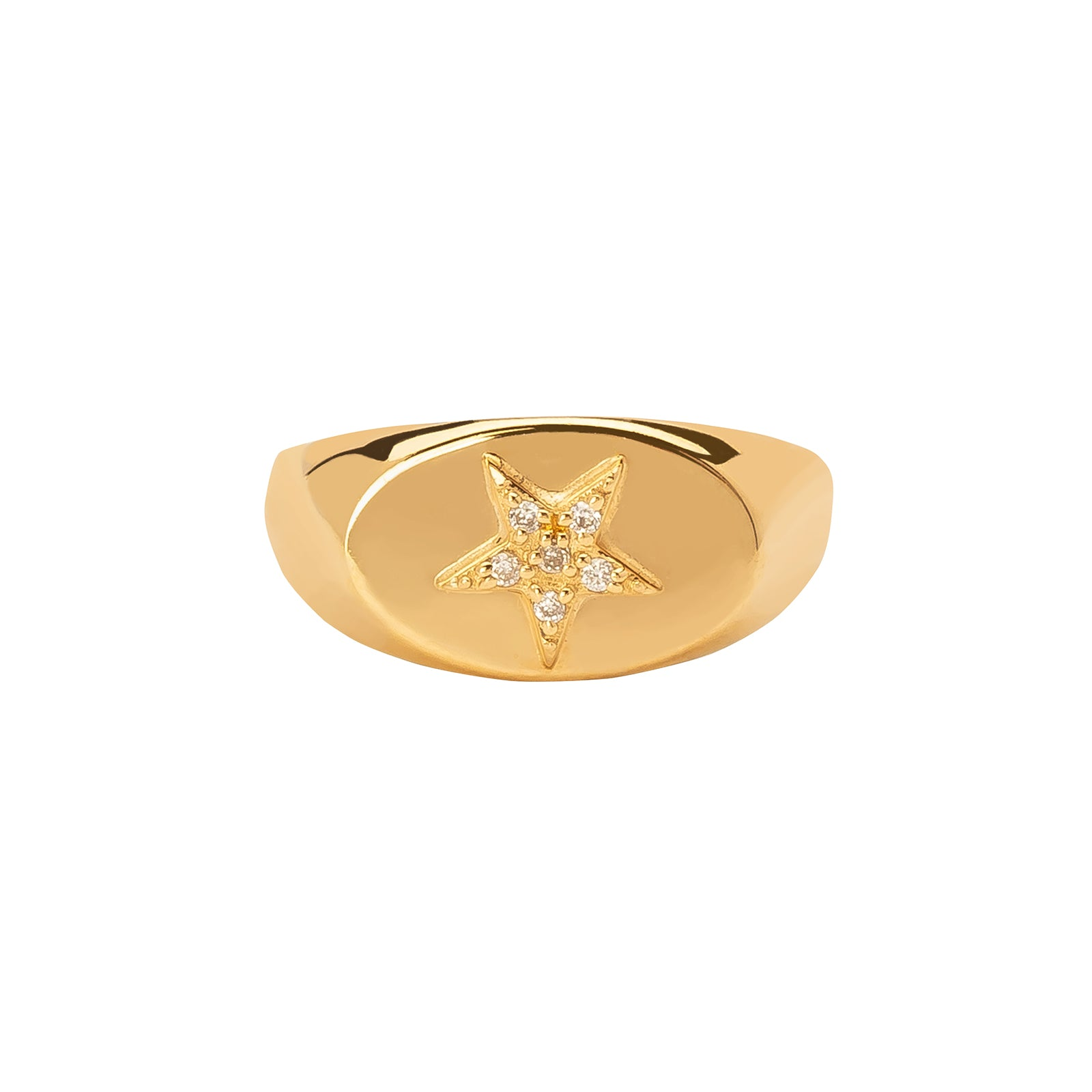 Foundrae Baby Signet Ring - Star - Rings - Broken English Jewelry