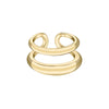 Gabriela Artigas & Company Twin Tusk Ring - Yellow Gold - Rings - Broken English Jewelry