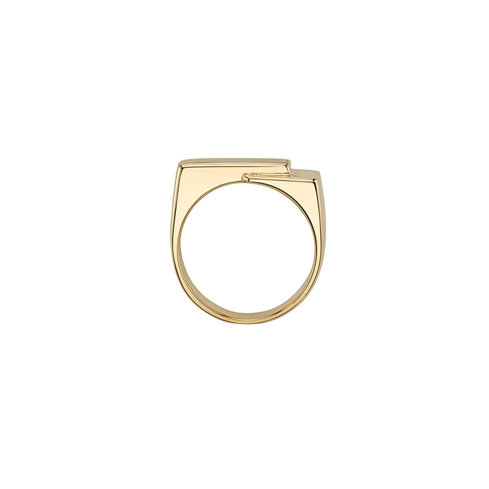 Lizzie Mandler Basic Overlap Pinky Ring - Rings - Broken English Jewelry