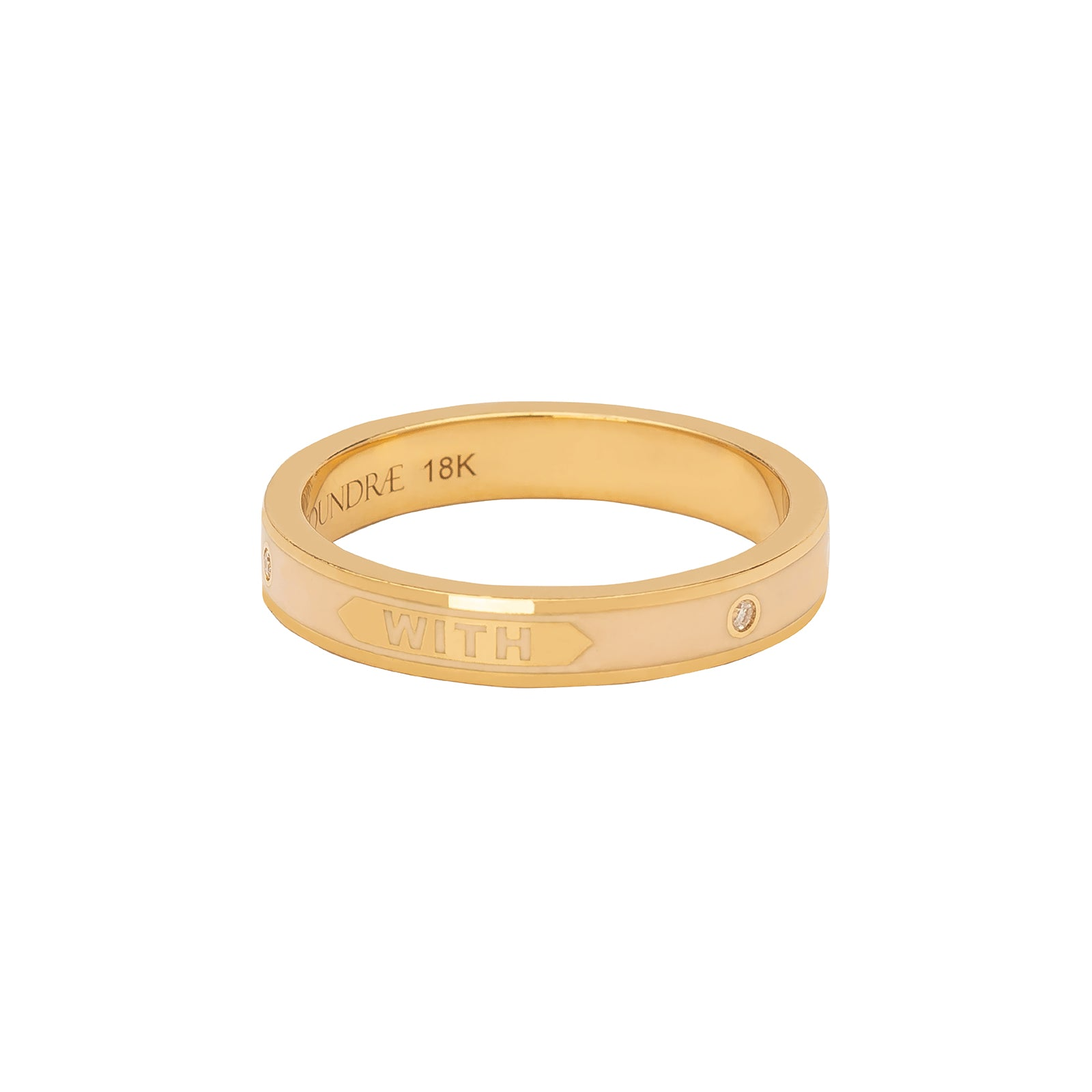 "Foundrae Thin Band Ring - ""With Every Breath"" Passion - Rings - Broken English Jewelry"