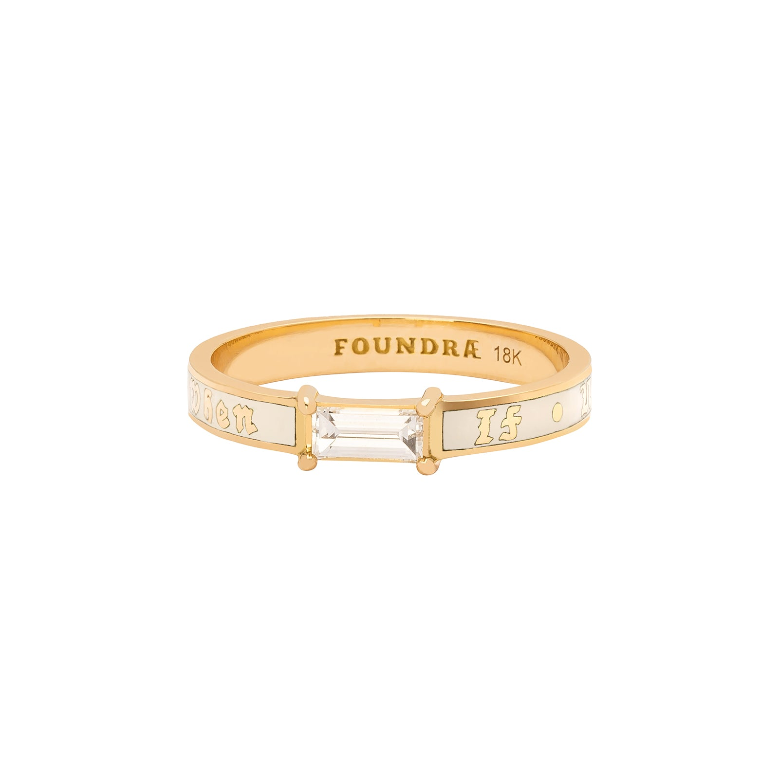 Foundrae If Not Now Then When Ring - Cream Enamel - Rings - Broken English Jewelry