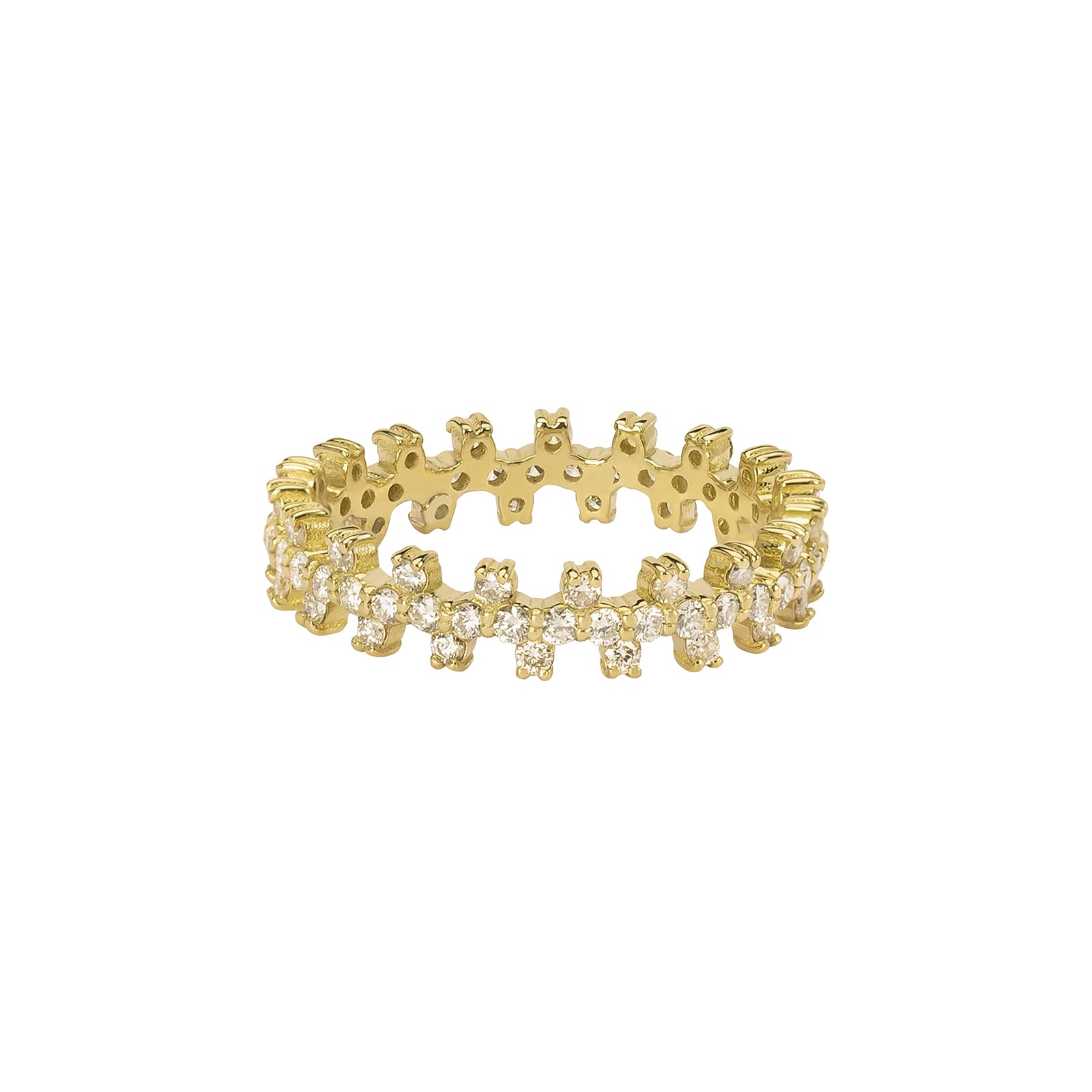 Gabriela Artigas & Company Bolt Diamond Ring - Yellow Gold - Rings - Broken English Jewelry