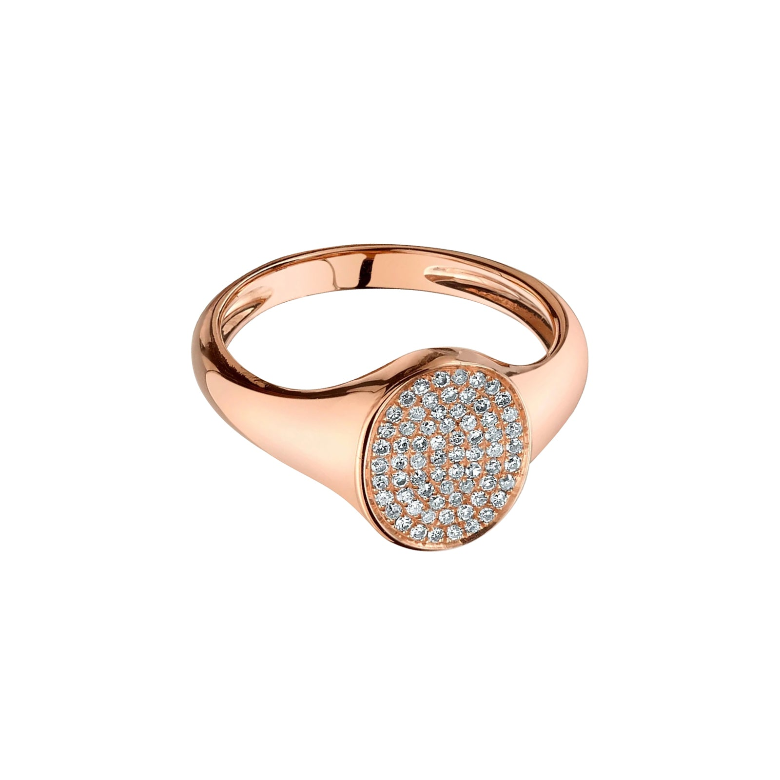 Gabriela Artigas & Company Signet Disc Diamond Ring - Rose Gold - Rings - Broken English Jewelry