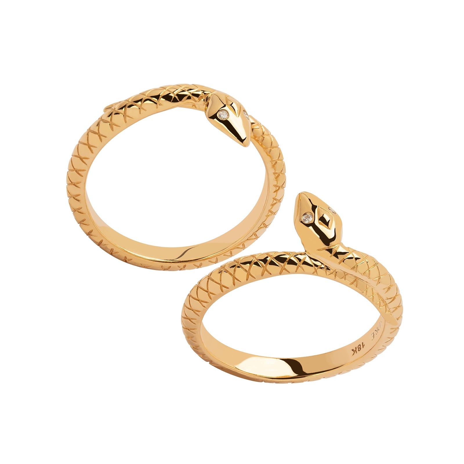 Foundrae Snake Bookend Bands - Rings - Broken English Jewelry