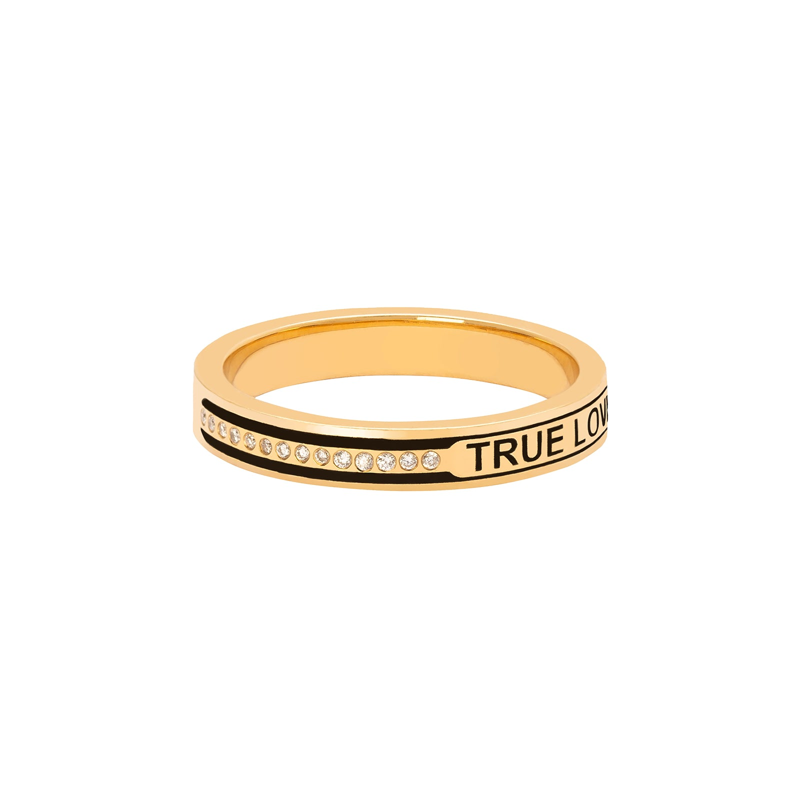Foundrae True Love Ring - Black Enamel - Rings - Broken English Jewelry