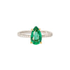 Ara Vartanian Pear Ring - Emerald & Diamond - Rings - Broken English Jewelry