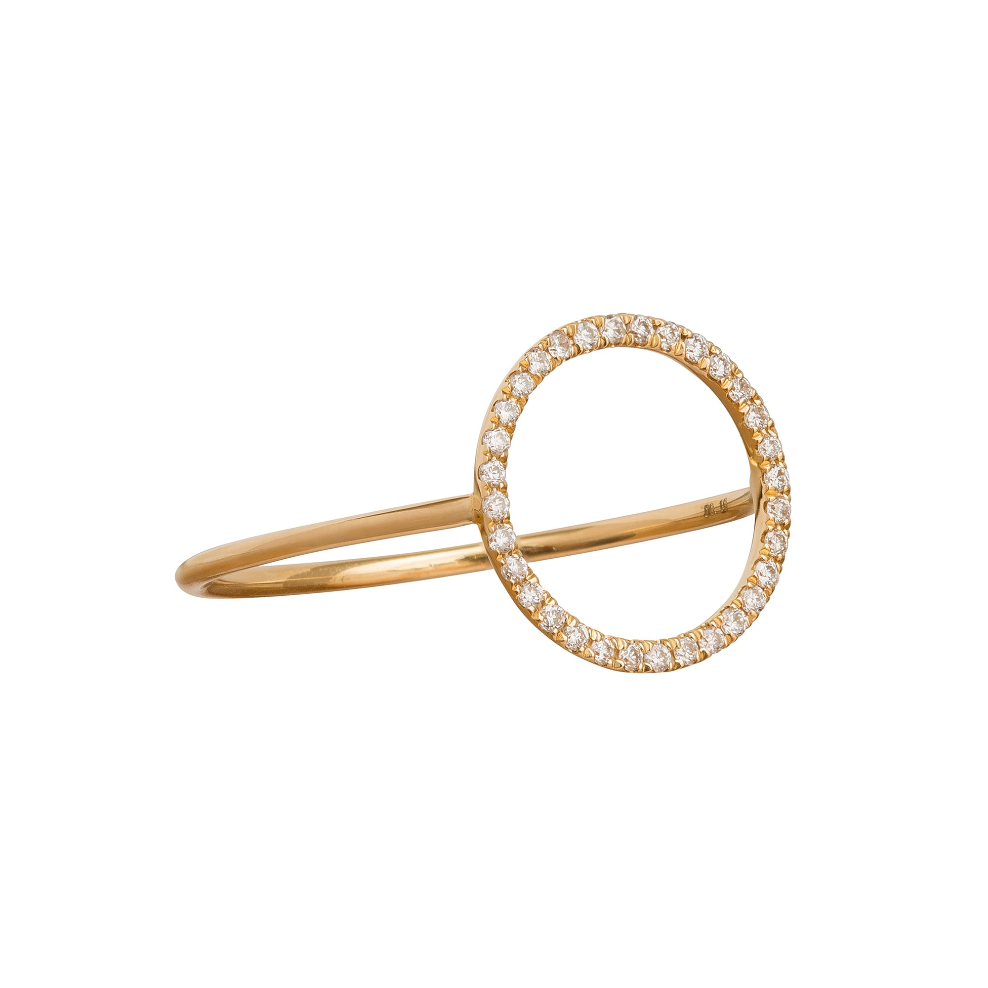 Eternity Circle Charm Ring by Rosa de la Cruz for Broken English Jewelry