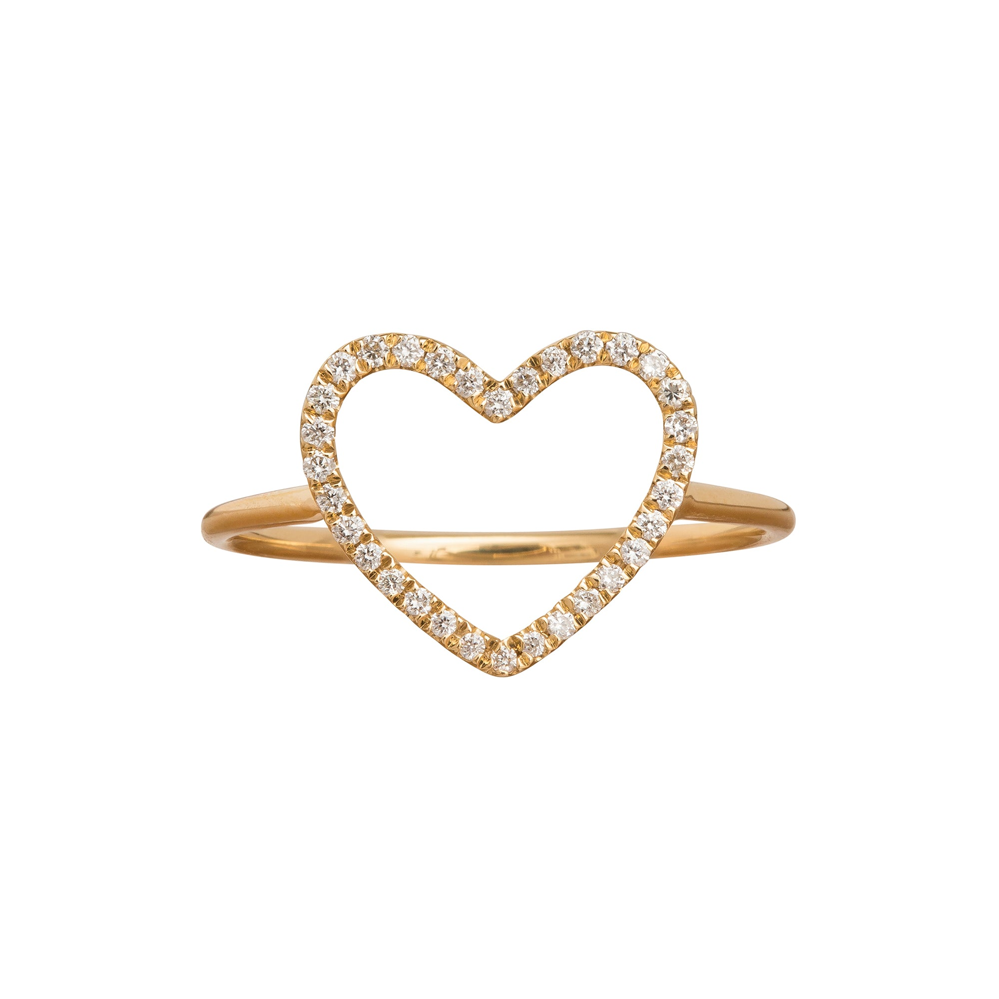 Heart Charm Ring by Rosa de la Cruz for Broken English Jewelry