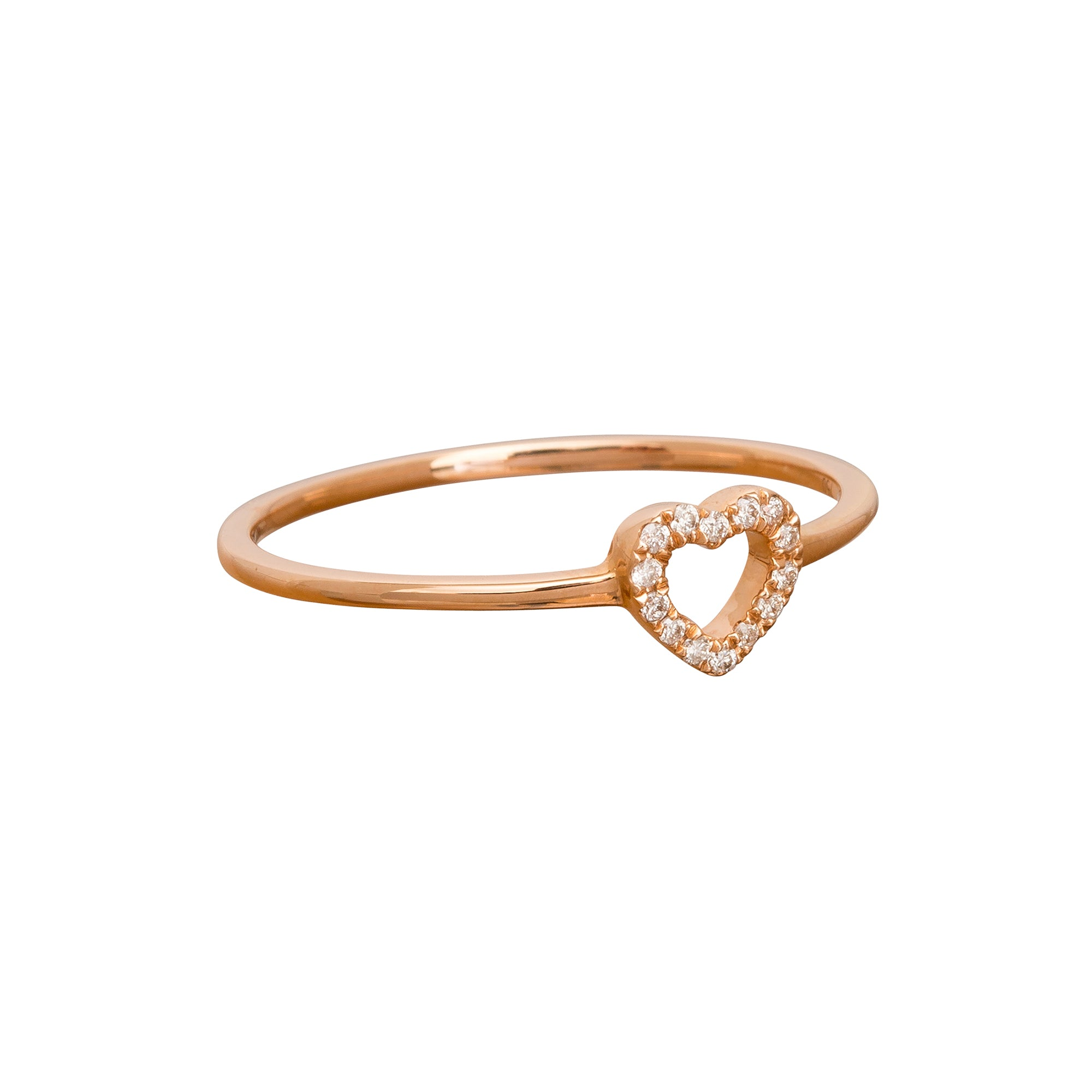 Tiny Heart Charm Ring by Rosa de la Cruz for Broken English Jewelry