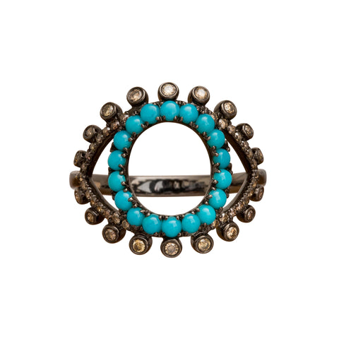 Turquoise Eye Ring by Rosa de la Cruz for Broken English Jewelry