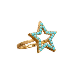 Turquoise Star Ring by Rosa de la Cruz for Broken English Jewelry
