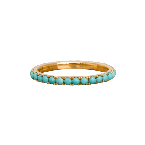 Turquoise Eternity Ring by Rosa de la Cruz for Broken English Jewelry