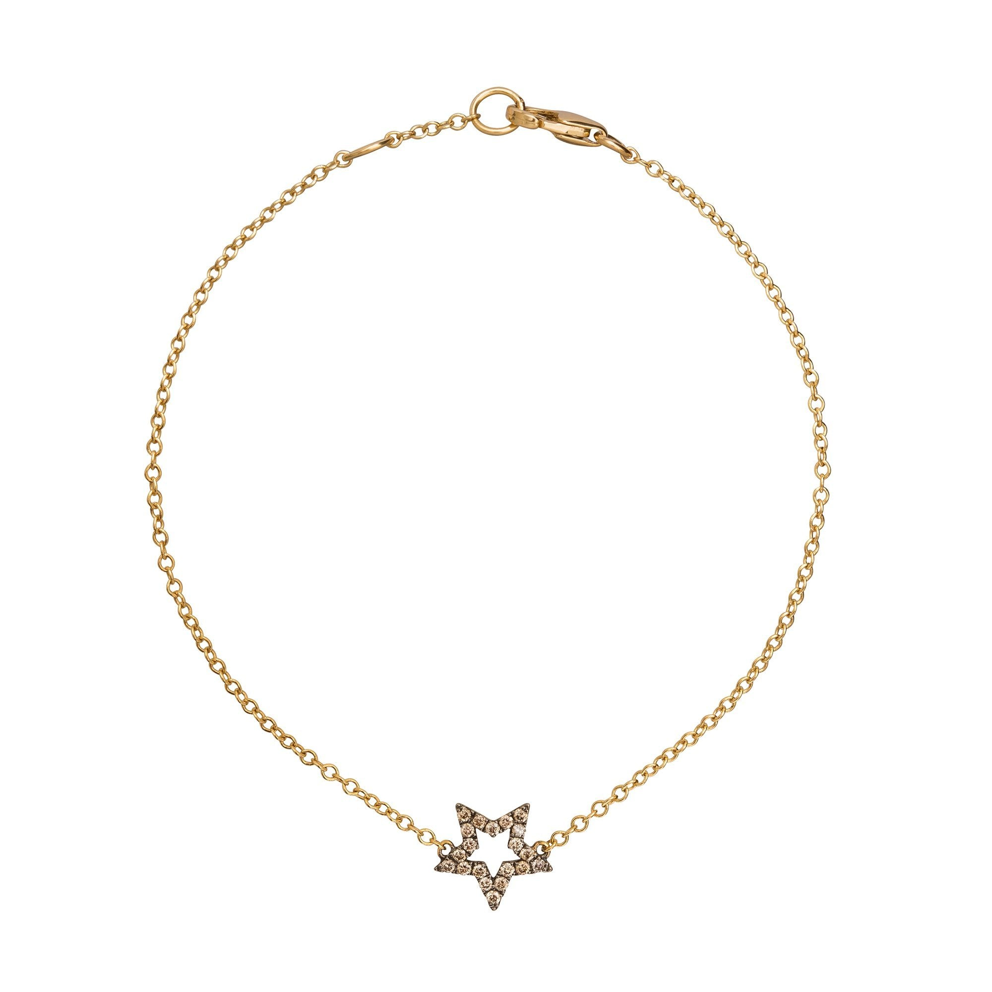 Rhodium Star Charm Bracelet - Rosa de la Cruz - Bracelets | Broken English Jewelry