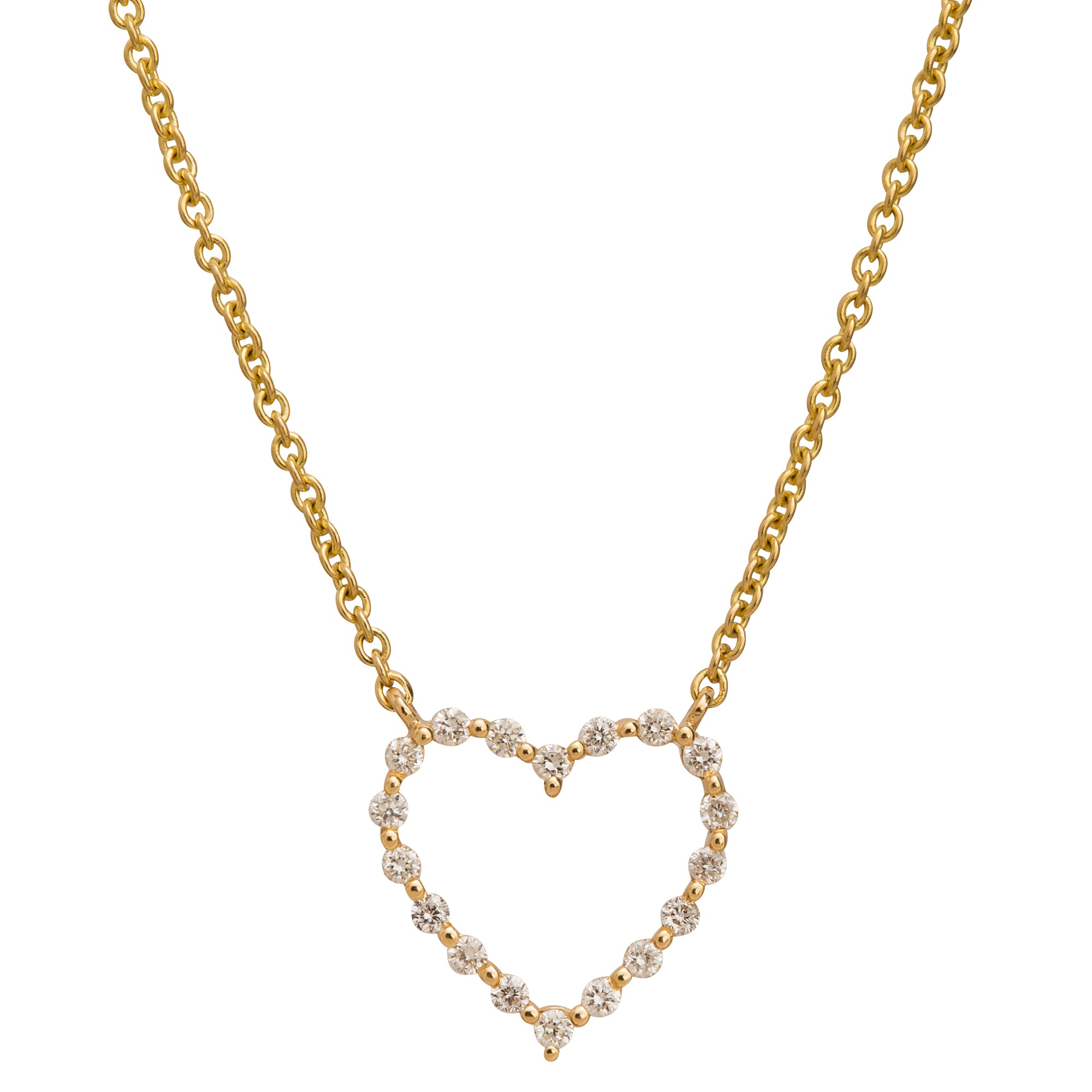 Separated Diamond Heart Charm Necklace by Rosa de la Cruz for Broken English Jewelry