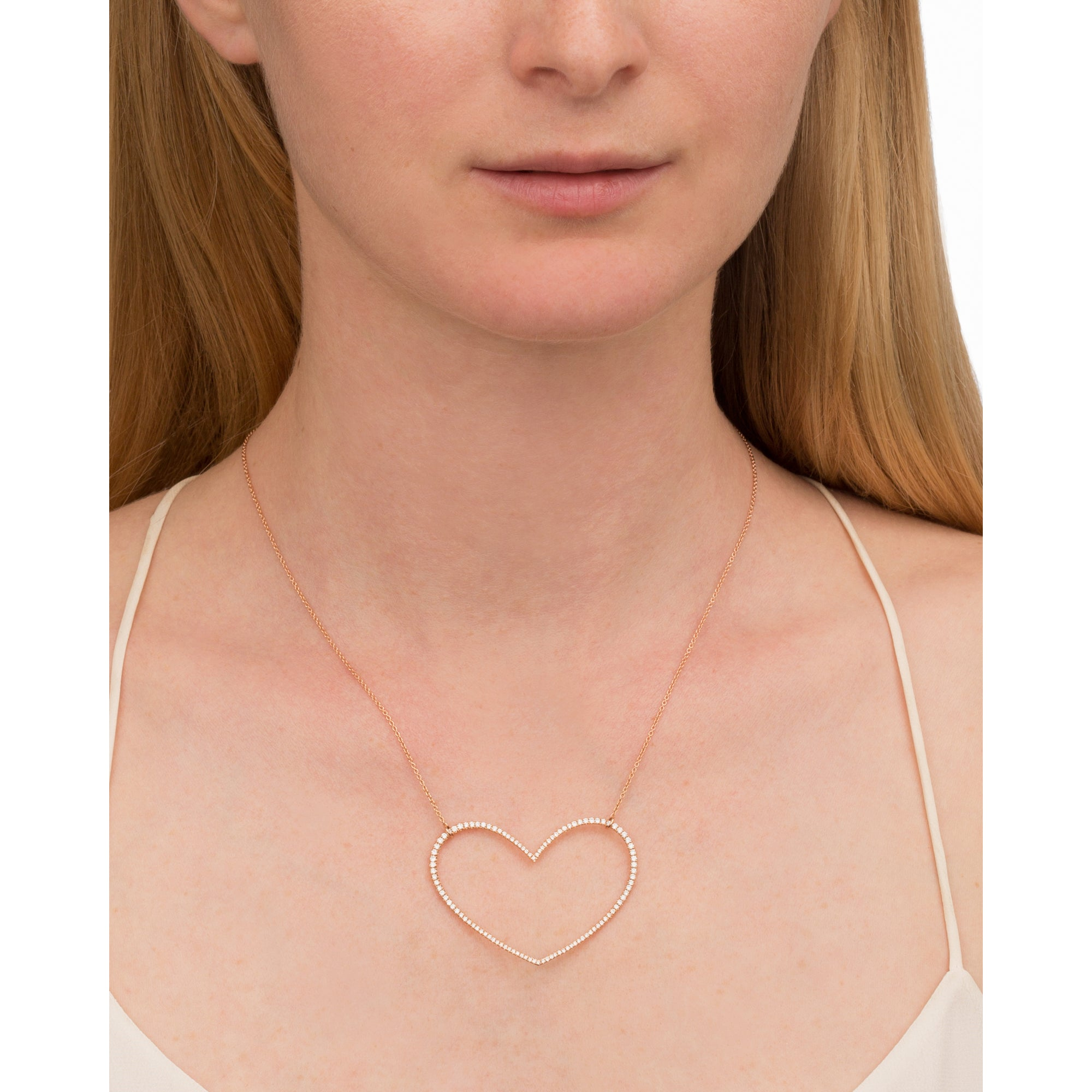 Large Moveable Heart Necklace by Rosa de la Cruz for Broken English Jewelry