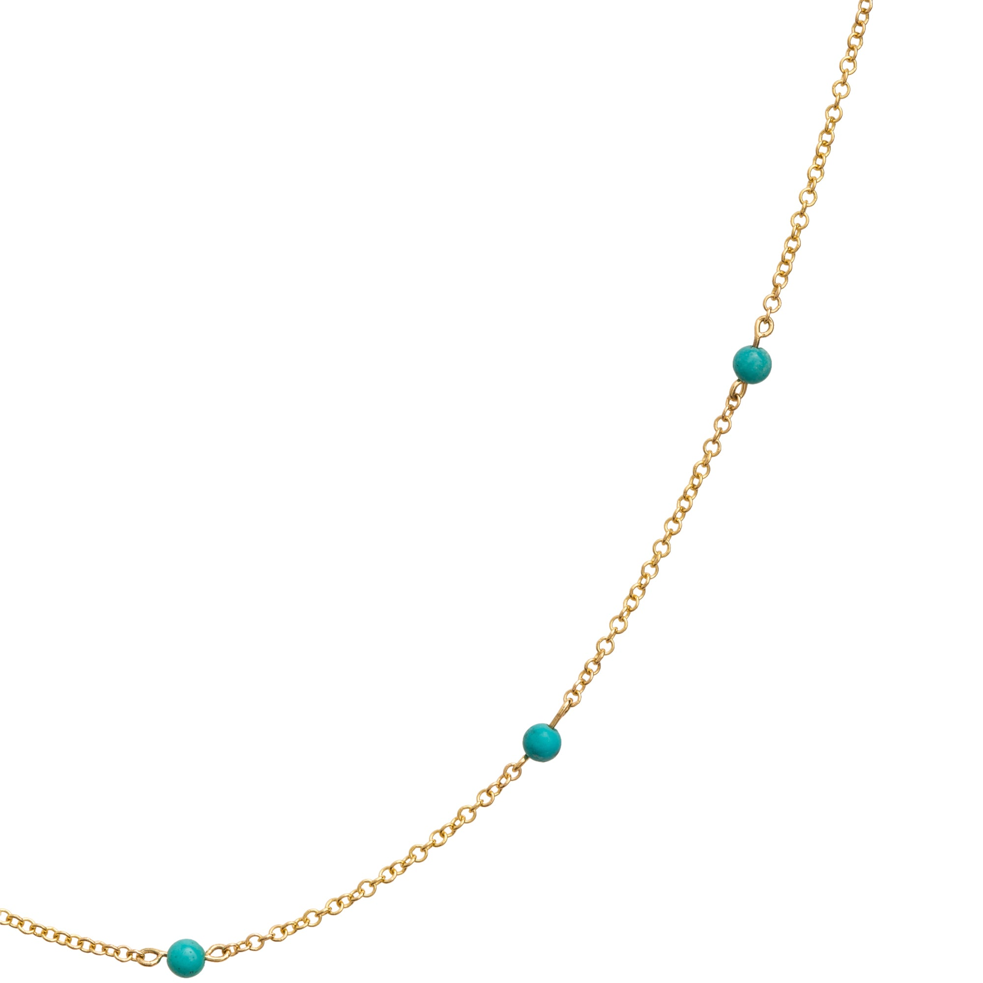 Turquoise Dot Necklace by Rosa de la Cruz for Broken English Jewelry