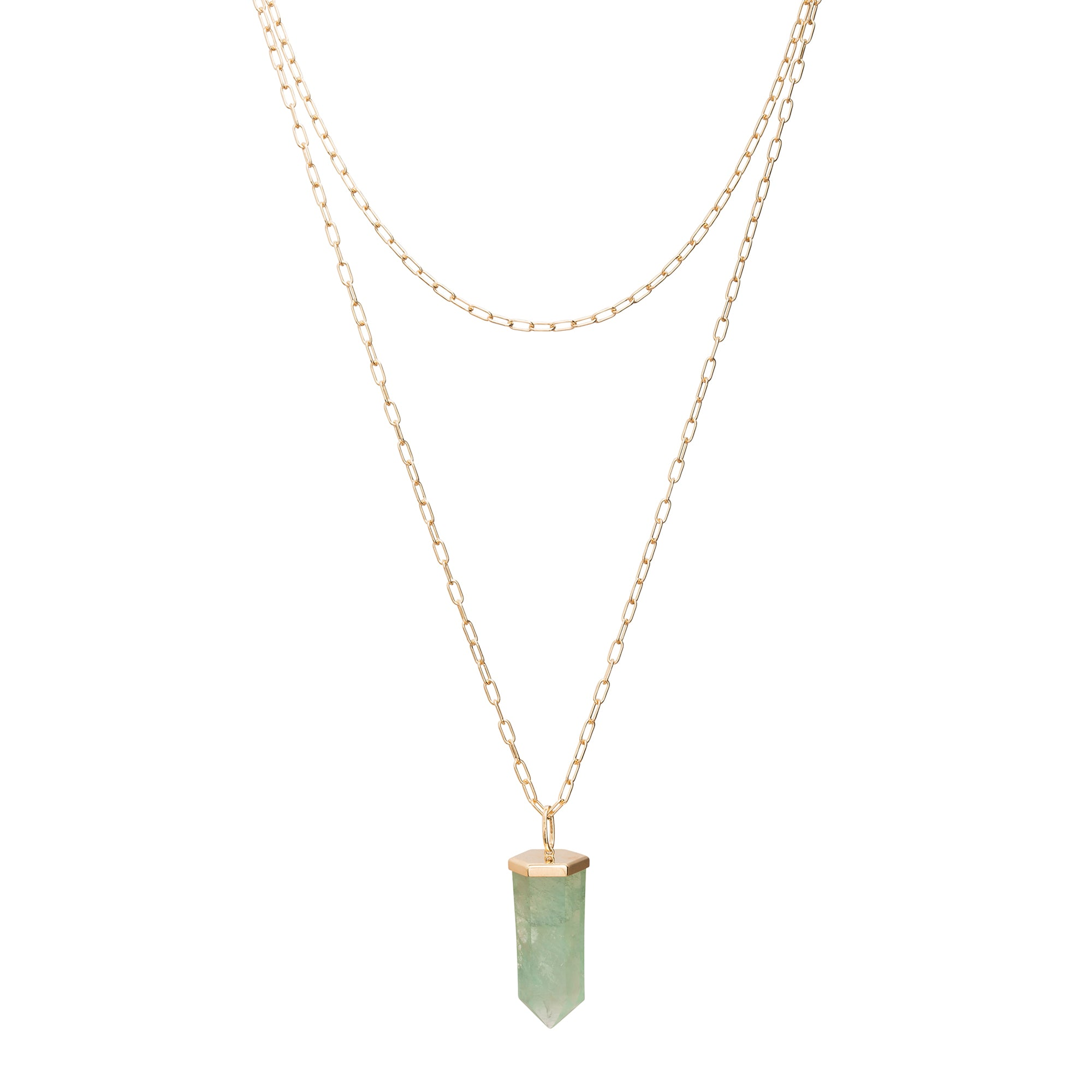 Fluorite Crystal Pendant by Rosa de la Cruz for Broken English Jewelry